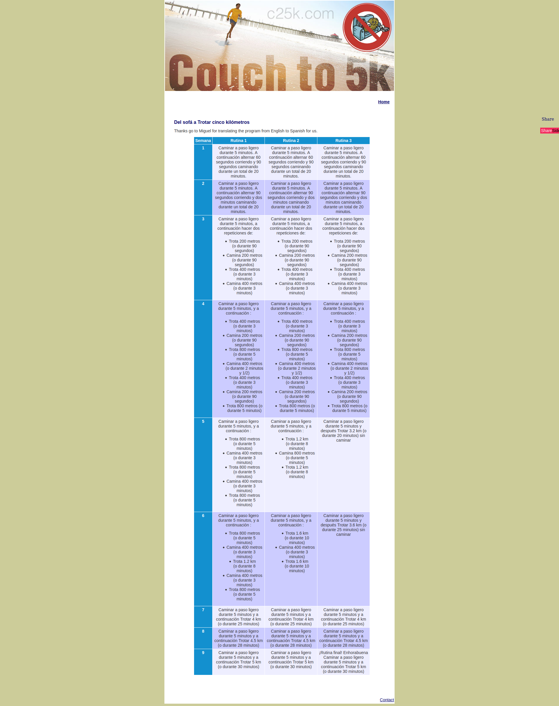 captura de pantalla c25k
